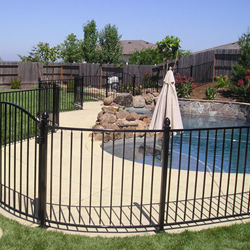 Iron Pool Fence